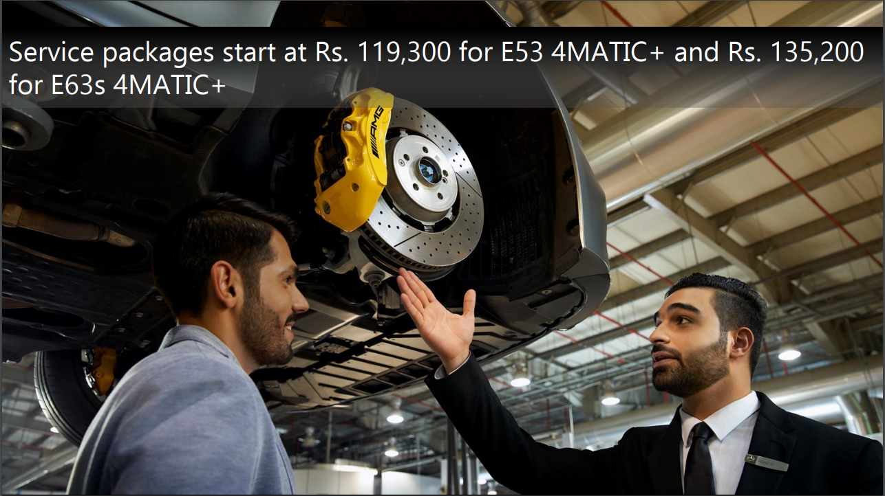 <p>Here are service package prices for both the Mercedes-AMG E 63 S and the Mercedes-AMG E 53</p>