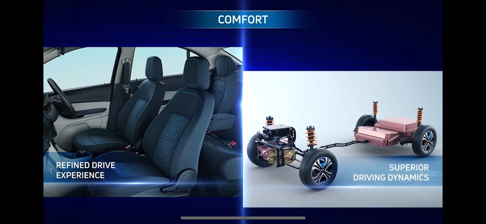 <p>The Tigor EV has a silent cabin with a claimed spacious interior. It also has a lower centre of gravity for better handling</p>